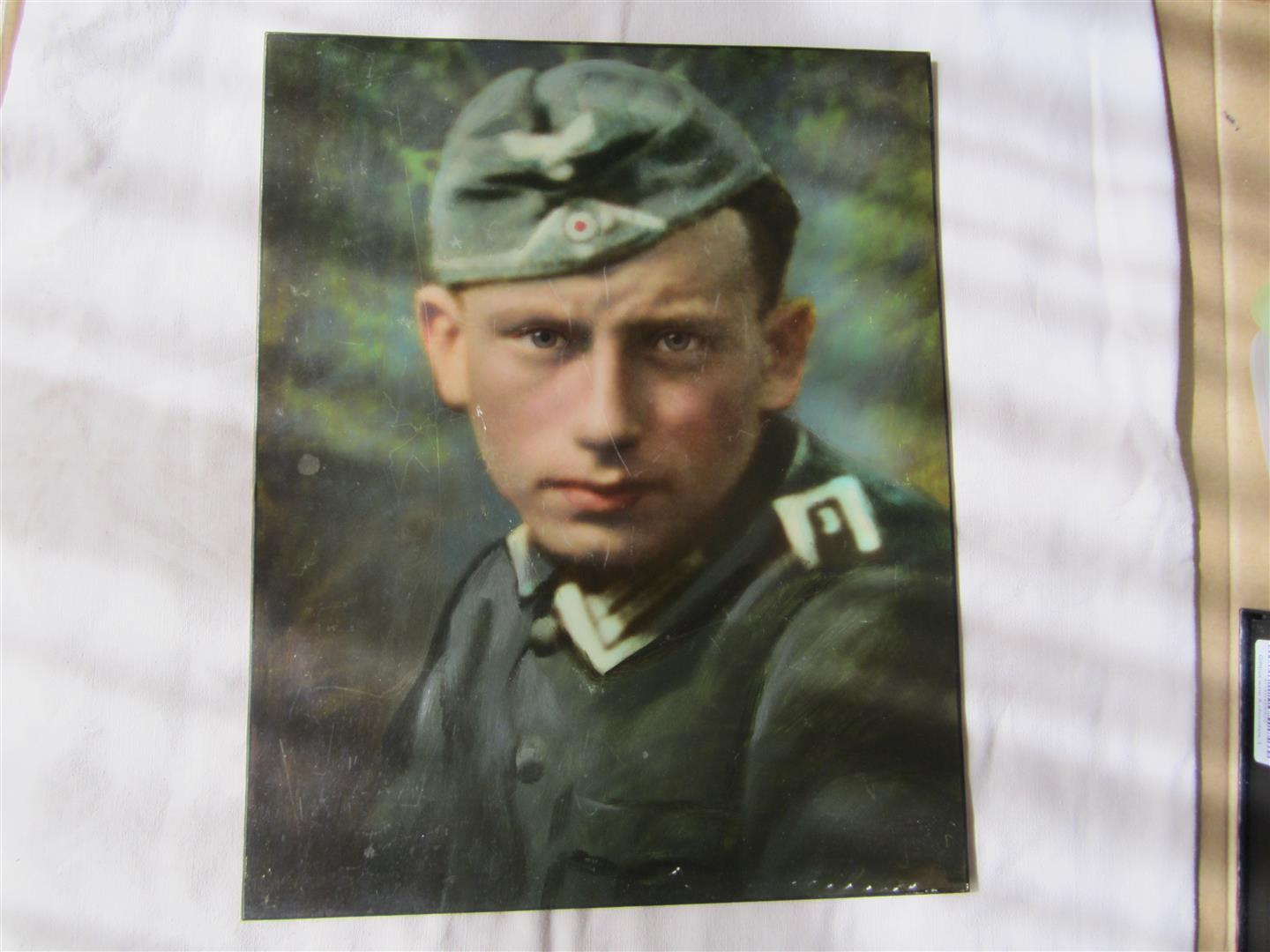 WW2 WH Colour Portrait Infantry NCO